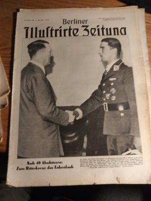 Galland(WW2 German ace an A Hitler) newspaper. for Sale in Sioux Falls, SD