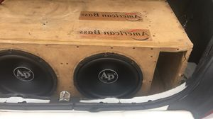 Custom box audio pipes brand new subs batteries amps wire professional sound installer led lights car alarm automatic start I do it all free today do for Sale in Detroit, MI