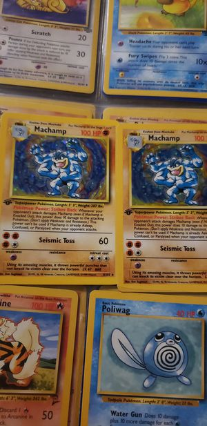 Two holo 1st edition Machamp for Sale in Flint, MI