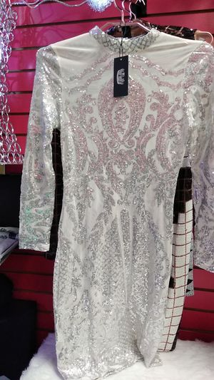 Queen's Sexy Sequins Silver White Dress SML for Sale in Kissimmee, FL
