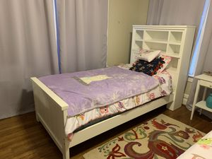 Twin Bed White Rooms To Go Bookcase head board for Sale in Houston, TX