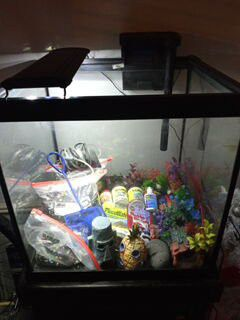 30 gallon Fish tank and stand plus some