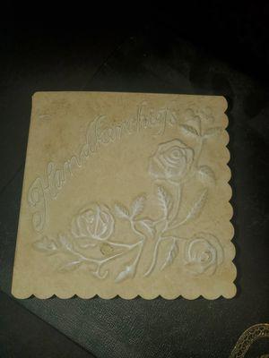 Vintage Hankerchief box with 9 vintage handkerchiefs for Sale in El Cajon, CA