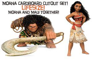 Moana and Maui life size cardboard cutout for Sale in Pomona, CA