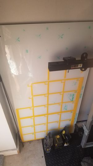 Large white board, glass, metal back, magnetic for Sale in Brooklyn, NY