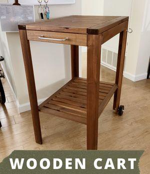 Brown Wooden Serving Cart- Outdoor/Indoor Furniture for Sale in San Diego, CA