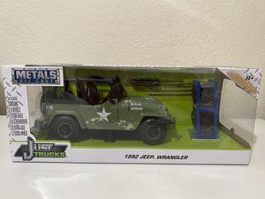 Diecast model US Army 1992 Jeep Wrangler 1:24 for Sale in Dewey, AZ