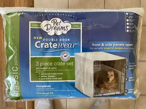 🐶 NEW Pet Dreams Double Door Crate Cover Size Small 24 inch for Sale in Sacramento, CA