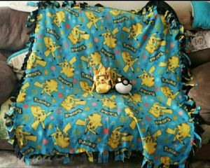 Pikachu blanket and stuffed animals for Sale in Portland, OR