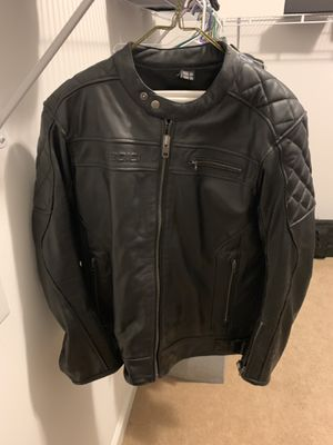 Sedici Leather Motorcycle Jacket Padded with removable liner for Sale in Moncure, NC