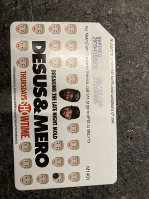 Desus and Mero collectible metrocard for Sale in Staten Island, NY