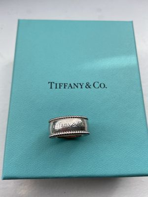 Tiffany & Co Beaded Edge Wide Band Ring for Sale in Cypress, CA