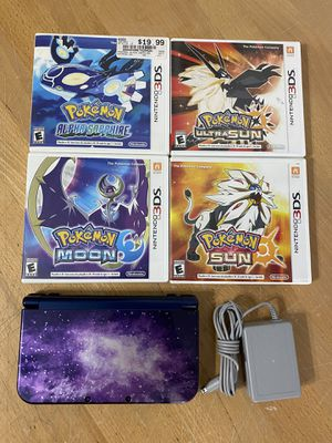 New Nintendo 3ds XL galaxy edition 4 Pokémon games for Sale in Inglewood, CA