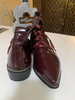 Wine Casual patent leather shoes /botas vino tinto de charol for Sale in North Bay Village, FL