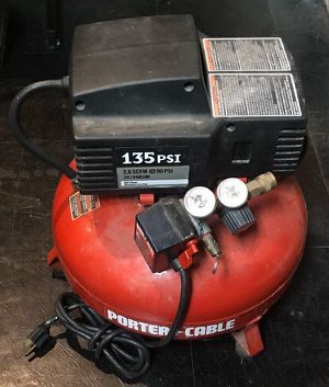 Porter Cable 6 Gallon Portable Electric Pancake Air Compressor for Sale in Palos Hills, IL