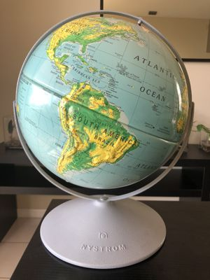 """World Globe Nystrom Dual Rotating Axis 12"""" High Raised Relief Medal Base for Sale in FL, US"""