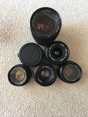 Canon manual lenses for Sale in Poway, CA