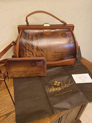 Patricia Nash Postcard Handbag and Wallet Set for Sale in Irving, TX