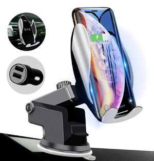 162 Qi Wireless Car Charger Mount Automatic Clamping Peteme Dashboard Air Vent Gravity Sensor Phone Holder Compatible with iPhone X/Xs MAX/XS/XR/X/8/ for Sale in Las Vegas, NV