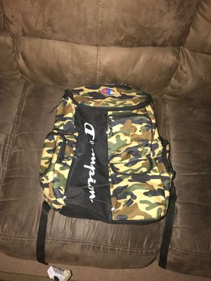 Champion /bape camo book bag for Sale in Columbus, OH