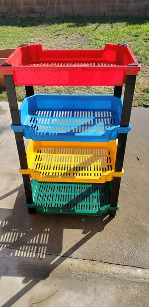 Large 4 Tiers Multi-color Toy Storage Shelves Organizer for Sale in Simi Valley, CA