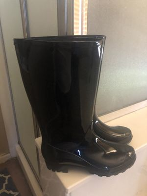 Black rain boots for Sale in Manteca, CA