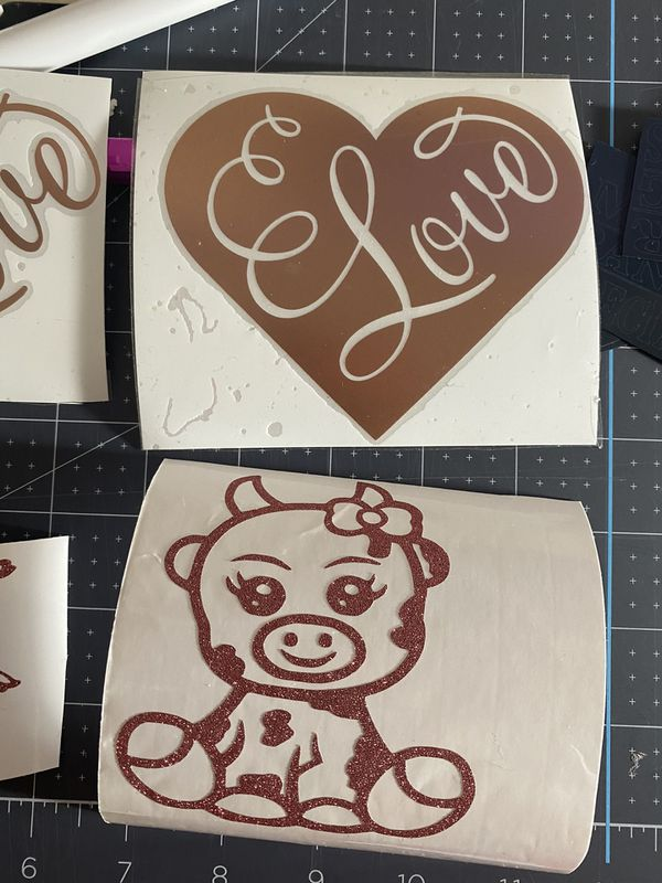 Decal sticker, personalized items such as cups,t-shirts, etc.