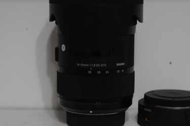 Sigma 18-35mm F/1.8 Lens With Adapter for Sale in Plant City,  FL