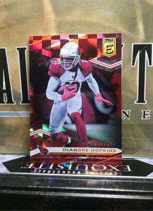 DEANDRE HOPKINS RED PARALLEL/399 CARDINALS AS SHOWN for Sale in Jersey City, NJ