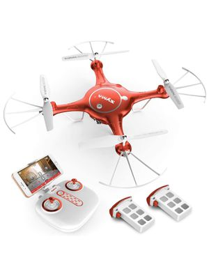 New in box WiFi FPV 720P HD Camera Quadcopter Drone with Flight Plan Route App Control and Altitude Hold Red for Sale in Katy, TX