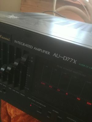 Sansui integrated amplifier AU-D77X for Sale in Gibsonia, PA