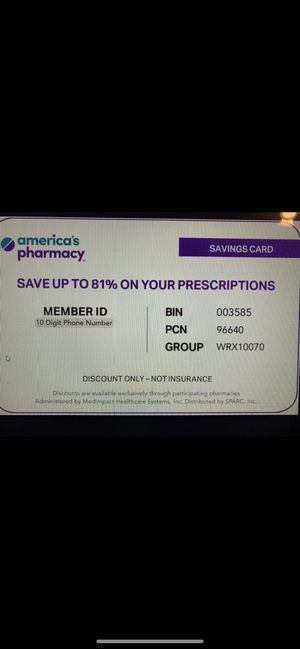 Free Prescription Discount Card, Better than Goodrx. Show this card to your pharmacists for great savings. for Sale in Roanoke, TX