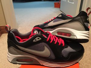 """"""" PRISTINE CONDITION """" NIKE AIRMAX !! STUNNING BLACK / COOL GREY & """"INFRARED """" !!!!! / w CUSTOM INFRARED LACES PURCHASED FROM THE CO -FULLY LACED !! for Sale in Orlando, FL"""