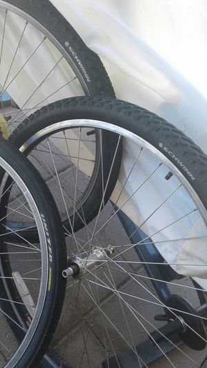 Tires and Rims Bike two tirs 26x1095 and 1 26x1050 new tires for Sale in Phoenix, AZ