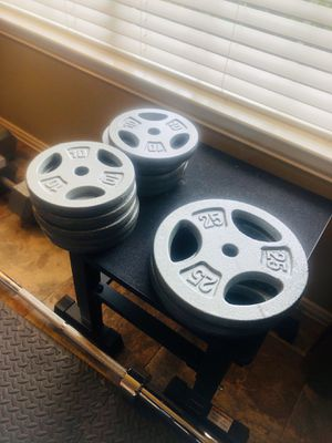 Weight plates 1 inch hole 2 dollars a pound for Sale in McKinney, TX