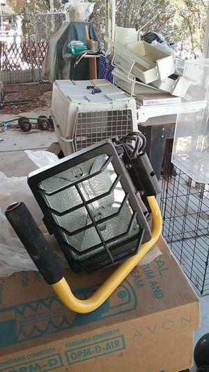 500 Watt Halogen small Portable Quartz Work Shop Stand Light Fixture Automotive pro connect for Sale in Las Vegas, NV