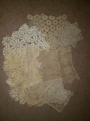 Collection of vintage doilies for Sale in Sterling, VA