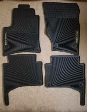 2004 to 2010 VW Touareg Genuine Factory OEM Rubber Floor Mats for Sale in Woburn, MA