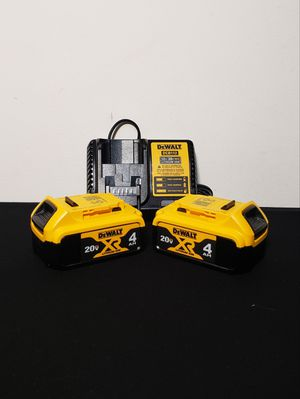 New (2) Batteries Dewalt XR4 and Charger FIRM PRICE for Sale in Woodbridge, VA