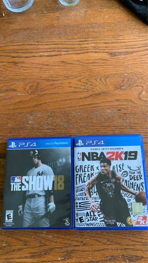 MLB The Show 18 and NBA 2K19 PS4 for Sale in Coraopolis, PA