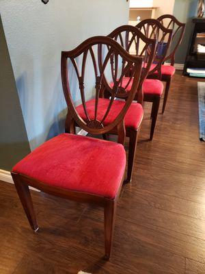 Mahogany Chairs 4 for Sale in Snohomish, WA