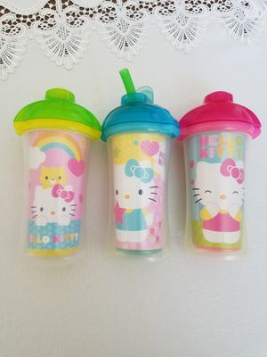 Hello Kitty 3 Insulated Cups- kids for Sale in Southington, CT