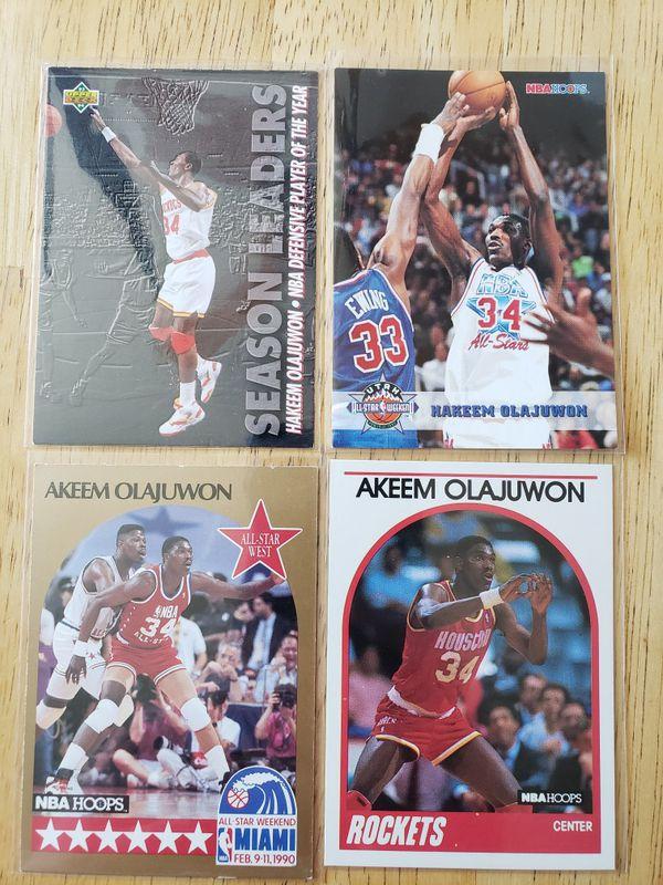 Hakeem Olajuwan Houston Rockets NBA basketball cards