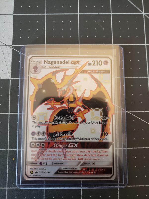 Pokemon rare Shiny Naganadel GX full art hidden fates