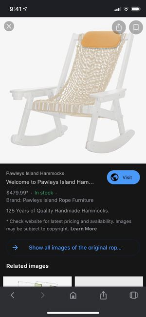 Pawleys Island Antique Rocking Chair for Sale in Tacoma, WA