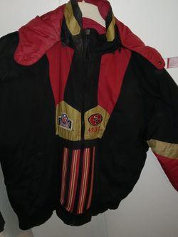 NFL SF 49ER Reversible Puffer Jacket for Sale in Sacramento,  CA
