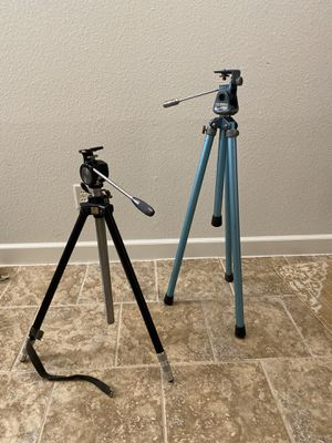 Pair Of Vintage Elevator Camera Tripods - Quick-Set and Graflex for Sale in Fort Worth, TX