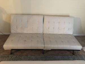 Off white futon for Sale in Raleigh, NC