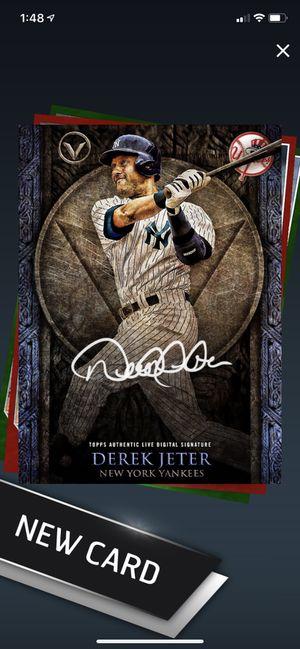 Derek jeter topps bunt (digital card) super cheap price for Sale in Canton, GA