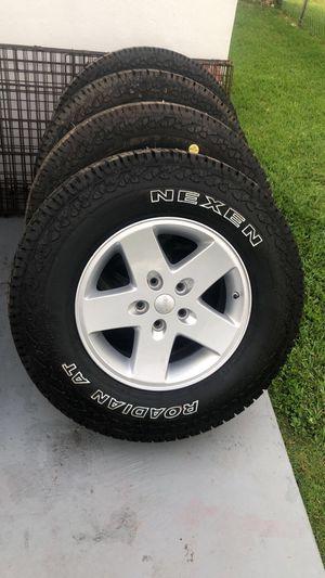 5 P225/75/R17 Jeep JK tires and rims. $400 OBO for Sale in Miami Gardens, FL